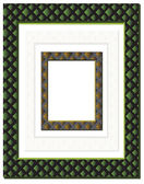 Set of geometrically decorated frames — Stockvector
