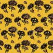 Decorative seamless sunflowers pattern — Stock Vector