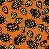 Sunflowers pattern — Stock Vector