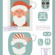 Make your own stamp with Santa — Stock Vector