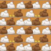 Бесшовный паттерн с птенцами и яйцами — Cтоковый вектор