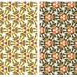 Set of two patterns — Stock Vector
