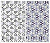 набор двух геометрических узоров — Cтоковый вектор