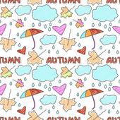 Patrón otoño doodle — Vector de stock