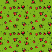 Seamless pattern with ladybugs — Stockvektor
