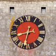 Medieval clock face — Stock Photo