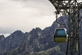 Aerial cableway in the alps — Stock Photo
