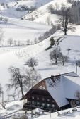 Farm House in Winter — Stock Photo