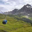 Cable Car in the alps — Stock Photo