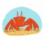 Vector crab — Stock Vector