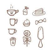 Iconos de café de estilo retro — Vector de stock
