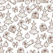 Sfondo con decorazioni natalizie — Vettoriale Stock