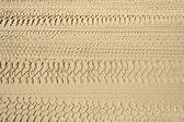 4x4 tyre tracks — Stock Photo