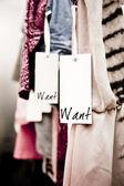 Vestiti di boutique, desidera! — Foto Stock