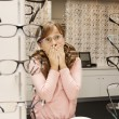 Choosing glasses — Stock Photo