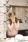 Choosing glasses — Stock Photo