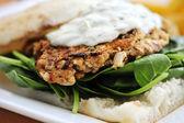 Gourmet burger — Stock Photo