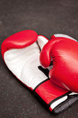 Red boxing gloves — Stock Photo