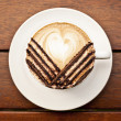 Coffee with latte art — Stock Photo