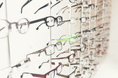 Glasses at the optometrist — Stock Photo