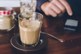 Coffee piccolo latte — Stock Photo