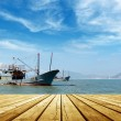 Stock Photo: Seand fishing boats