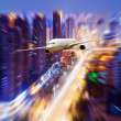 Aircraft on the Shanghai sky — Stock Photo #15325817
