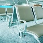 Shanghai Pudong Airport bench — Stock Photo