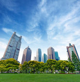 Shanghai Lujiazui Financial Center skyscraper — Stock Photo