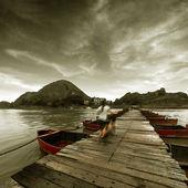 Old pontoon — Stock Photo