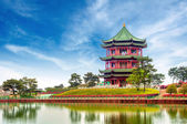 китайские древние здания: сад. — Стоковое фото