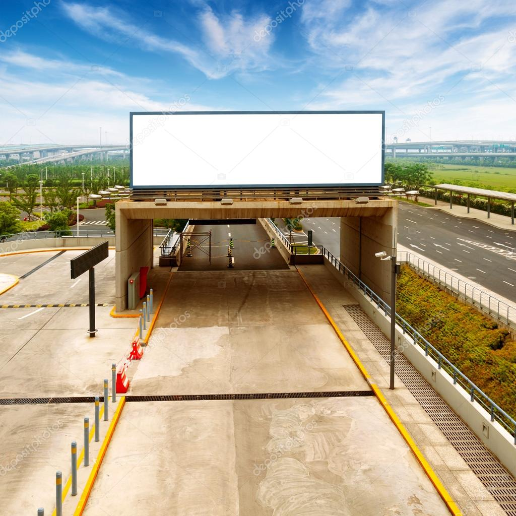 Highway blank in the middle of commercials  Stock Photo #15329741