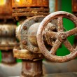 Corrosion of the metal valve — Stock Photo