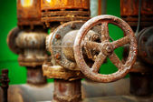 Corrosion of the metal valve — Stockfoto