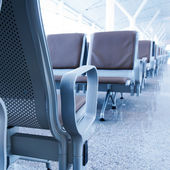 Shanghai Pudong Airport bench — Stock Photo
