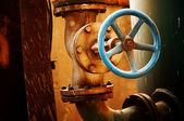 Korrosion von metall-ventil — Stockfoto