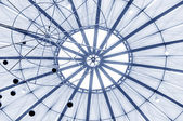 Circular glass roof — Stock Photo