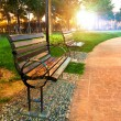 A park bench — Stock Photo