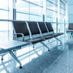 Airport bench — Stock Photo