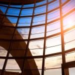 Modern building indoor: office window — Stock Photo