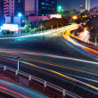 Overpass of the light trails — Foto Stock