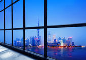 China Shanghai Lujiazui financial district — Stock Photo
