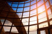 Modern building indoor: office window — Stockfoto