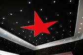 Tak och femuddig stjärna — Stockfoto