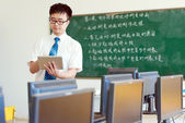 Asian male teachers — Stock Photo