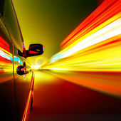 Nacht, High-Speed-Auto — Stockfoto