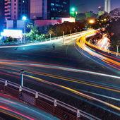 üstgeçit ışık yollarının — Stok fotoğraf