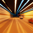 High-speed car in the tunnel - Stock Photo