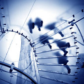 Glas spiraltrappa — Stockfoto
