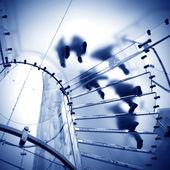 Szklane schody spiralne — Zdjęcie stockowe
